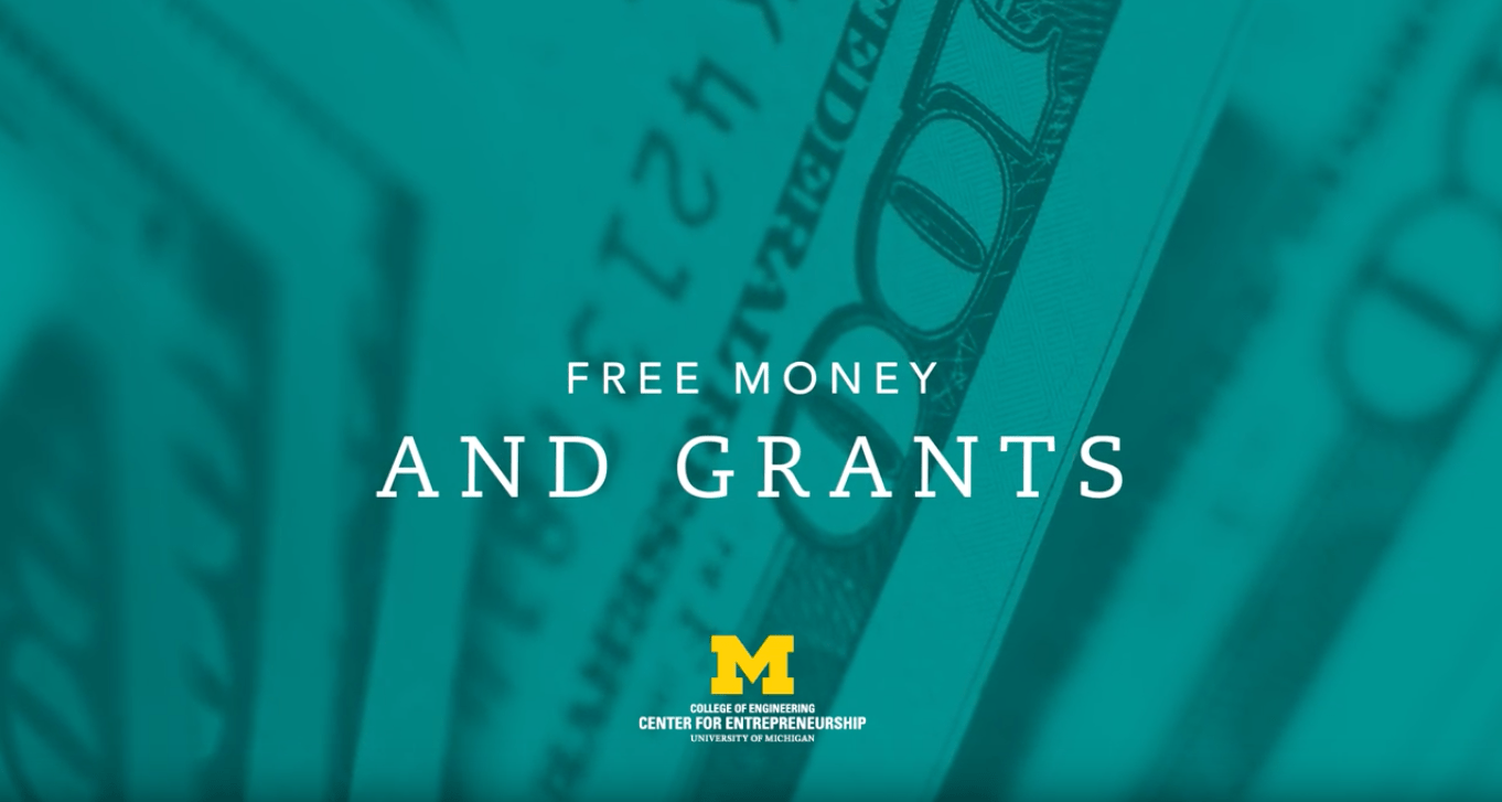 title card for free money and grants