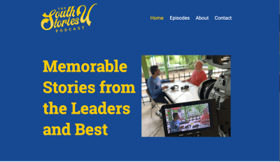 Homepage for South U Stories Podcast