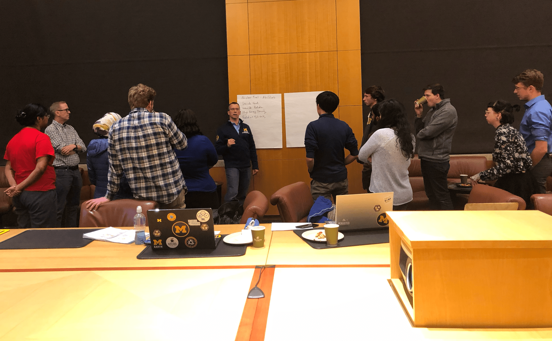 Jonathan Fay workshopping with students for nuclear challenge