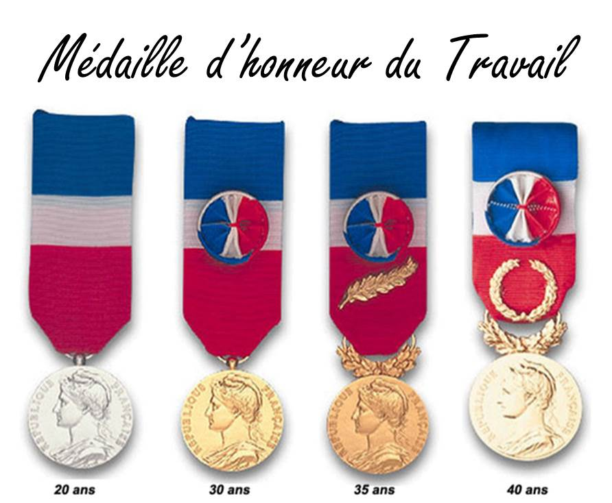 Medaille D Honneur Du Travail Promotion Du 1er Janvier 2019