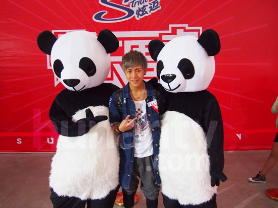 Hm tell me who's cuter, those pandas or me?
