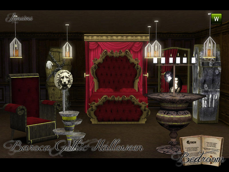 jomsims Baroca Gothic Bedroom
