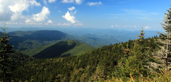 View on the Richland Balsam Mountain loop
