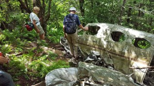 Twin engine Cessna wreck from 1983.