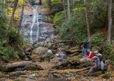 Lunch at Lower Dill Falls