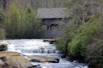 Covered bridge above High Falls