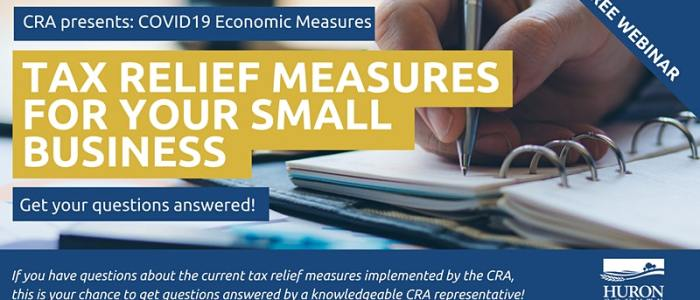 Dec. 7 at 10 am: CRA Tax Relief Measures for Your Small Business
