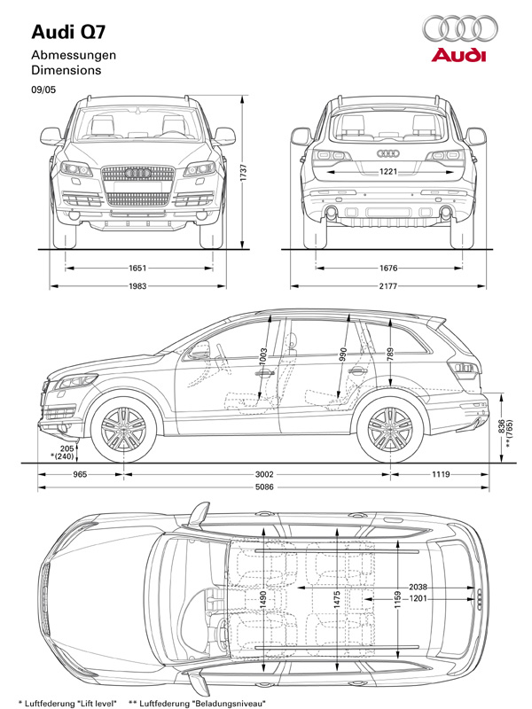 Jodesign Studio :: audi Q7 Dimensions 2008