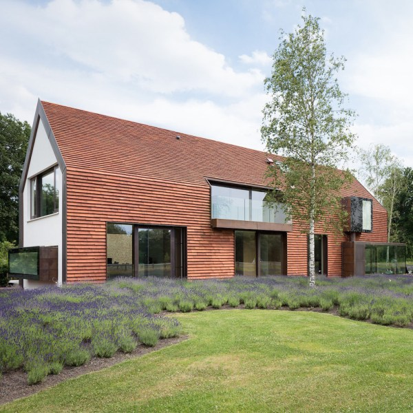Belgian Farm Clad In Terracotta Tile