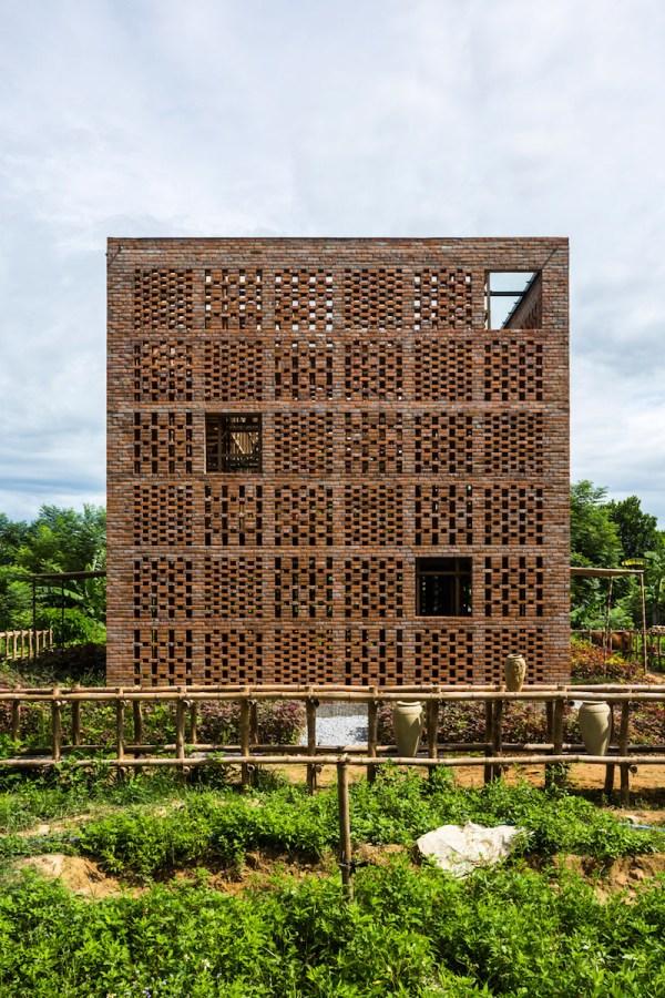 Tropical Space' Perforated Brick 'terra Cotta Studio'