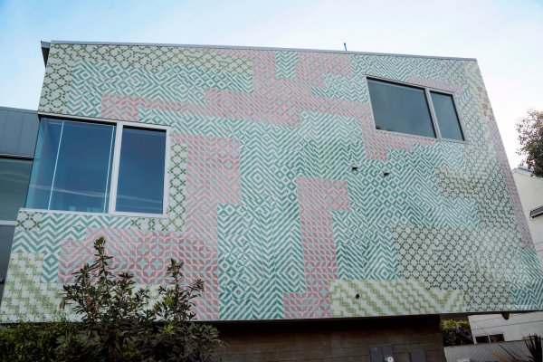 Faile' Custom California-inspired Tile Patchwork Facade