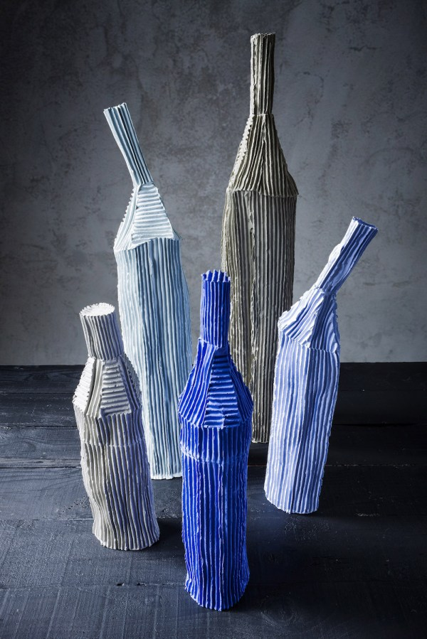 Paola Paronetto' Cartocci Sculptures Of Paper Clay