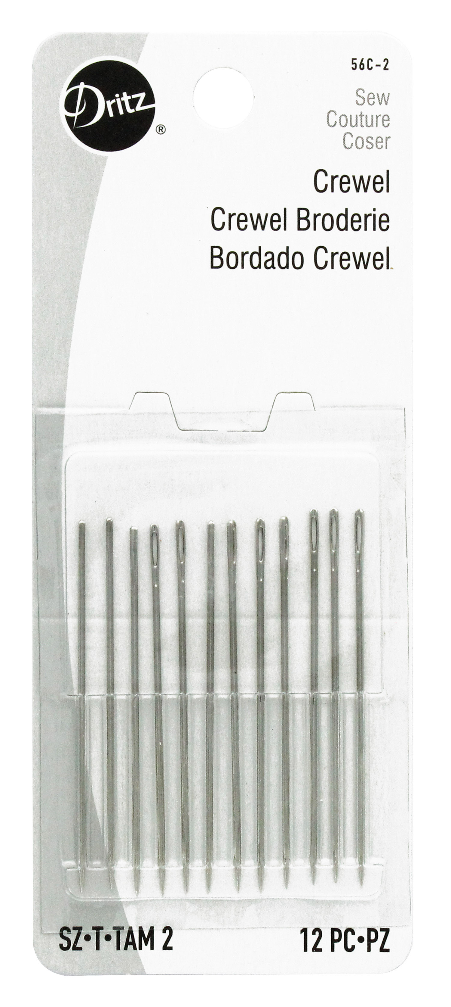 Hand Embroidery Needles : embroidery, needles, Dritz, Crewel, Embroidery, Needles, CreateForLess