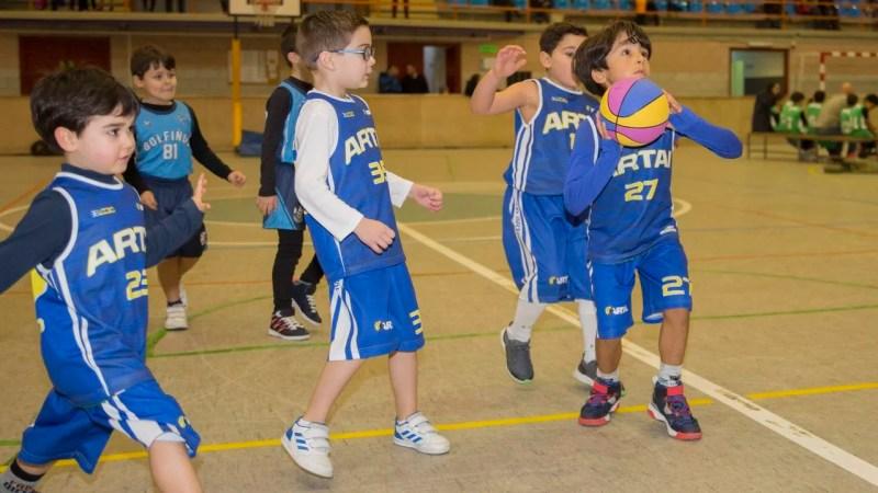 mini basket, el baloncesto de los más pequeños