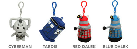 Doctor Who plush talking toys.