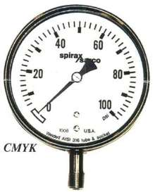 Pressure Gauge offers stainless steel bourdon tube.