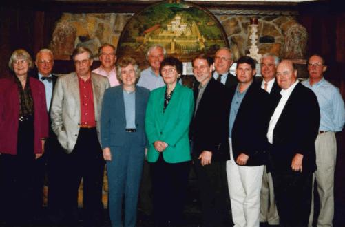 Members of the Community Foundation Board (left to right): Ingrid Reed, Ken Estabrook, Bill Turner, Mark Sandler, Chris Cox, Stu Sendell, Marilyn Pfaltz, Bob Jones, Mike Horn, Russ Lucas, Geoff Connor, Jim Kellogg, and John Duffy.