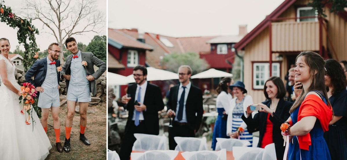 Outfit färgglatt bröllop Strandkullen Onsala Bröllopsfotograf Göteborg