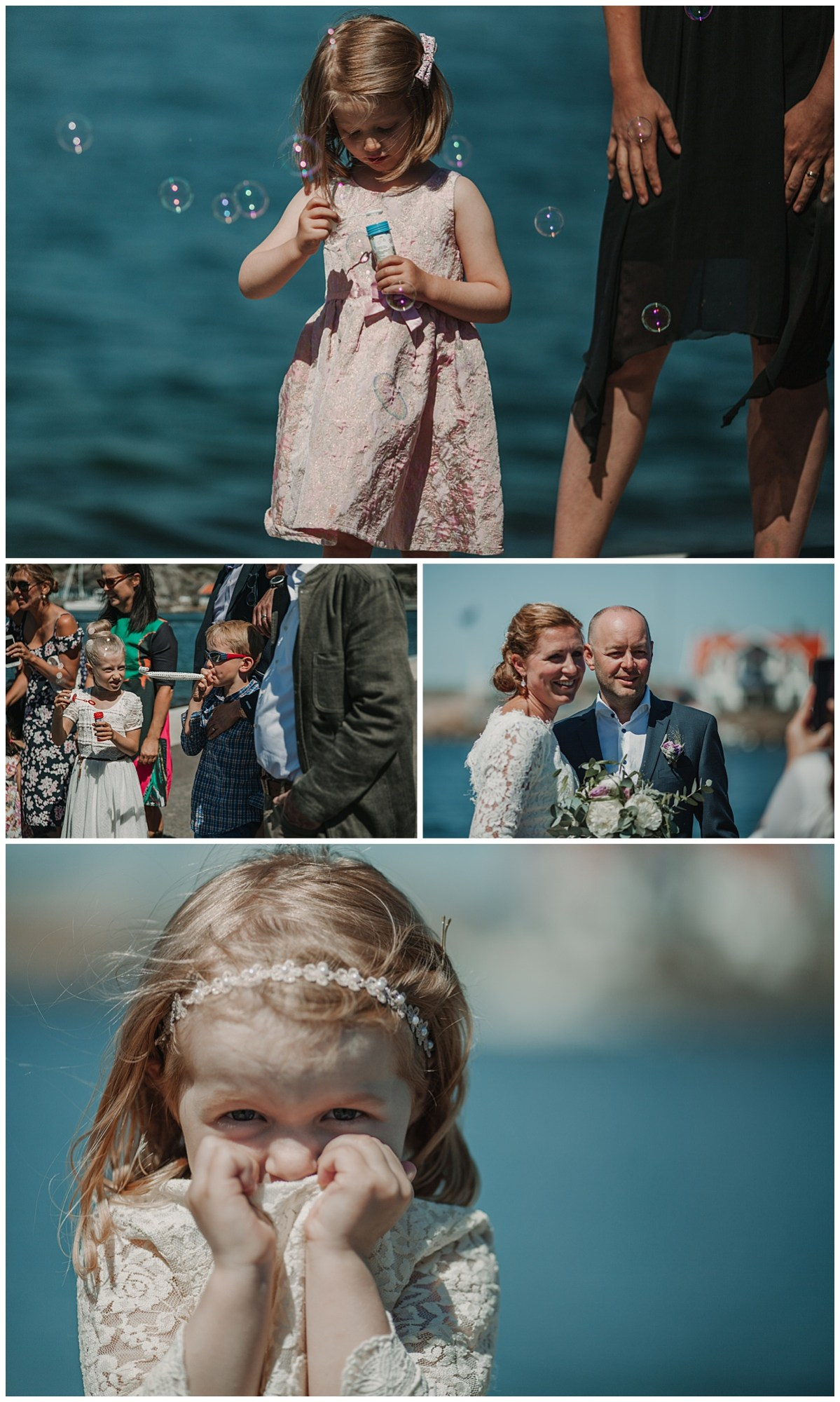 bröllopsfotograf Marstrand  blåsa bubblor gratulationer efter vigsel wedding photographer bubbles ceremony