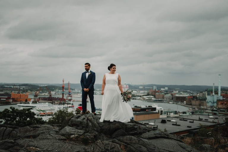 wedding photographer Sweden Gothenburg masthuggs kyrkan wedding photos city view slideshow bildspel