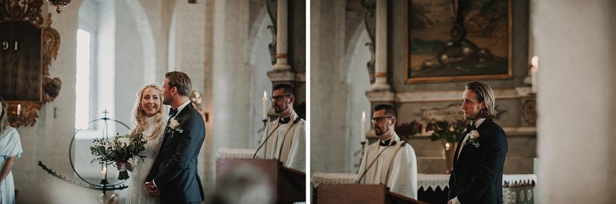 Vigsel Maria kyrkan i Båstad wedding photographer Sweden Ceremony