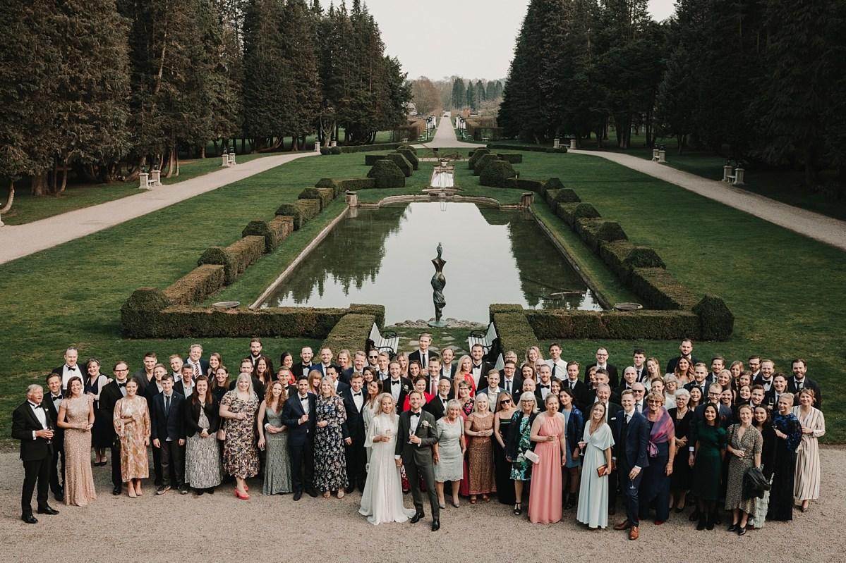 Gruppfoto Norrviken bröllopsfotograf Skåne