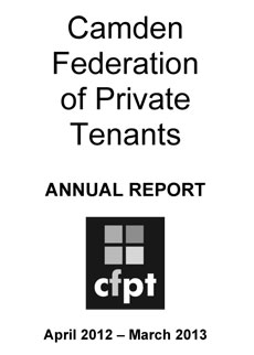 CFPT Annual Report 2013