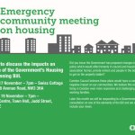 Emergency community meetings on housing