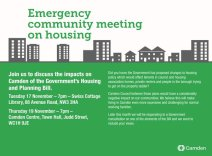 Emergency community meeting on housing information