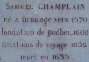 Plaque commémorative à Brouage