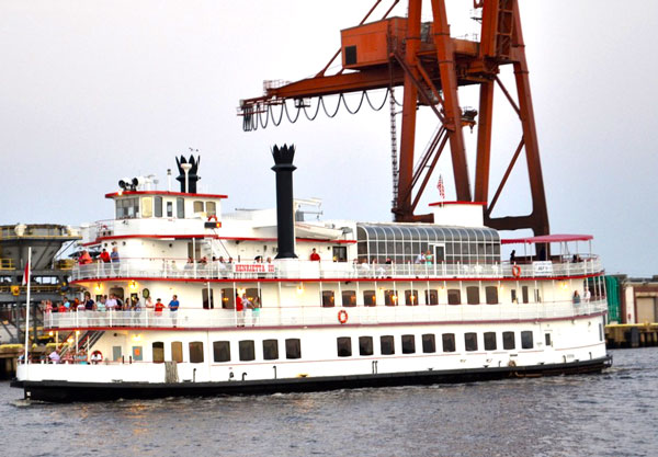 Maybe you'll catch the Henrietta III during the tour.  Here we passed by while passing by the NC State Ports