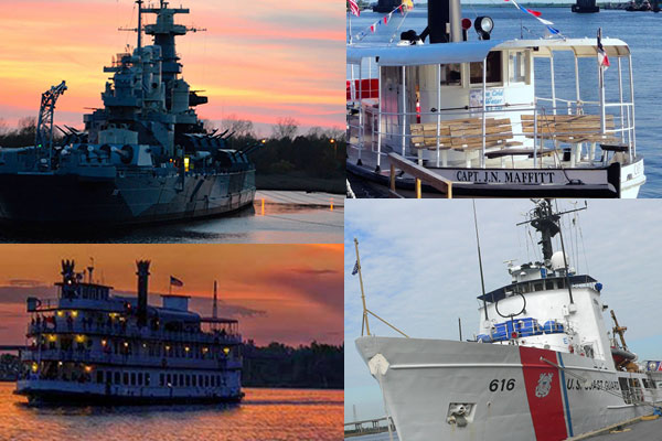 The Boats You See on the Cape Fear River in Wilmington, NC