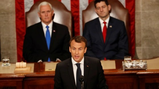 Image result for Macron Calls for Multilateralism in Rebuttal to Trump's Isolationist UN Speech