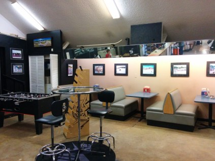 A nice space just inside the entry of the main clubhouse at Kona Skatepark in Arlington.