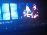 Country star Carrie Underwood's performance is captured on the new EverBank Field video boards.