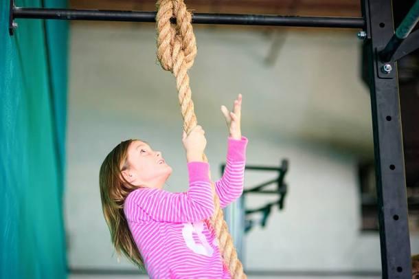 Wod CrossFit Sevilla Rope Climb Kids