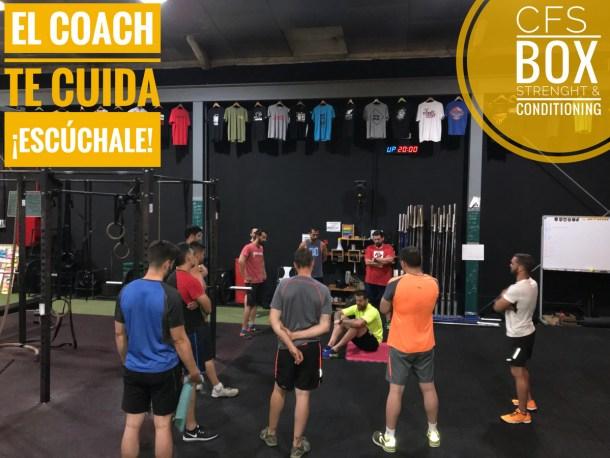 Wod CFS Box CrossFit Sevilla training escucha coach