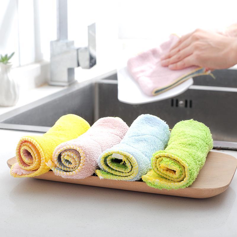 kitchen dish towels wall rack 厨房洗碗加厚吸水洗碗巾的拍賣價格 飛比價格 厨房清洁巾纖維雙面吸水加厚不掉毛不沾油洗