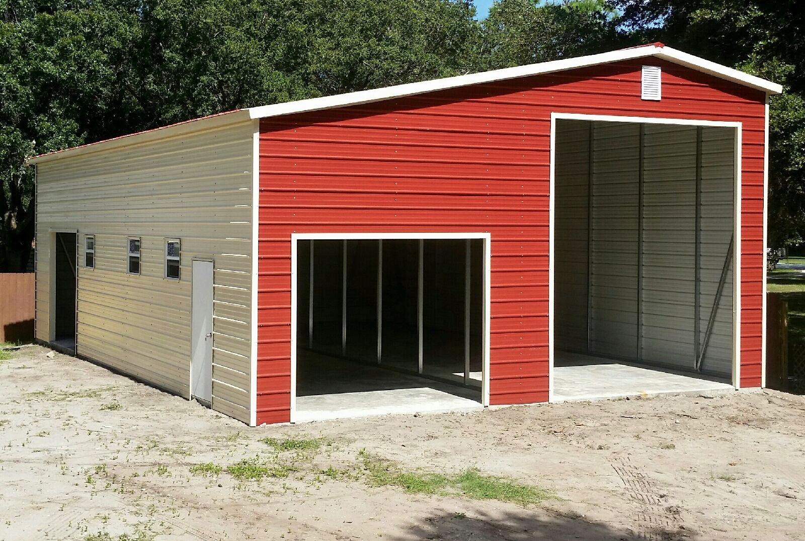 24x30 Custom Leanto Building  CF Steel Buildings and Supply