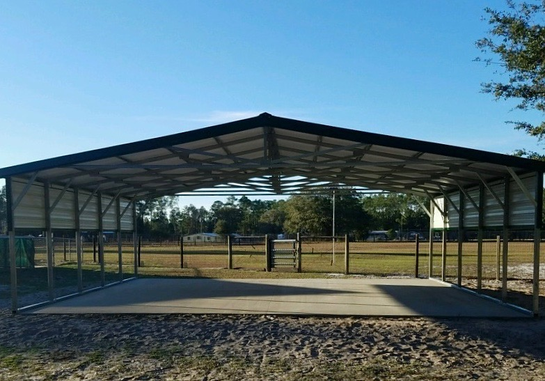 30x25 Carport Central Florida Steel Buildings And Supply