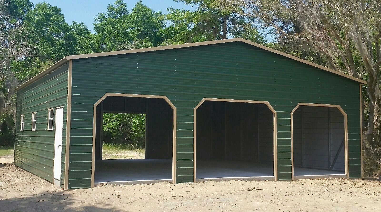 36x40 Custom Garage Central Florida Steel Buildings And
