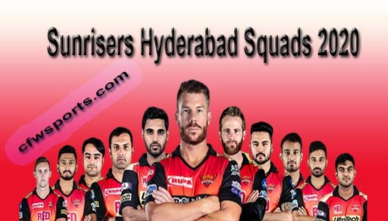 sunrisers hyderabad squads2020