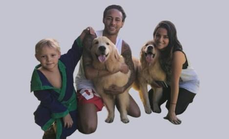 Neymar Dog and Family