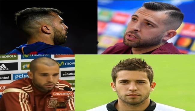 Jordi Alba haircut and hairstyle