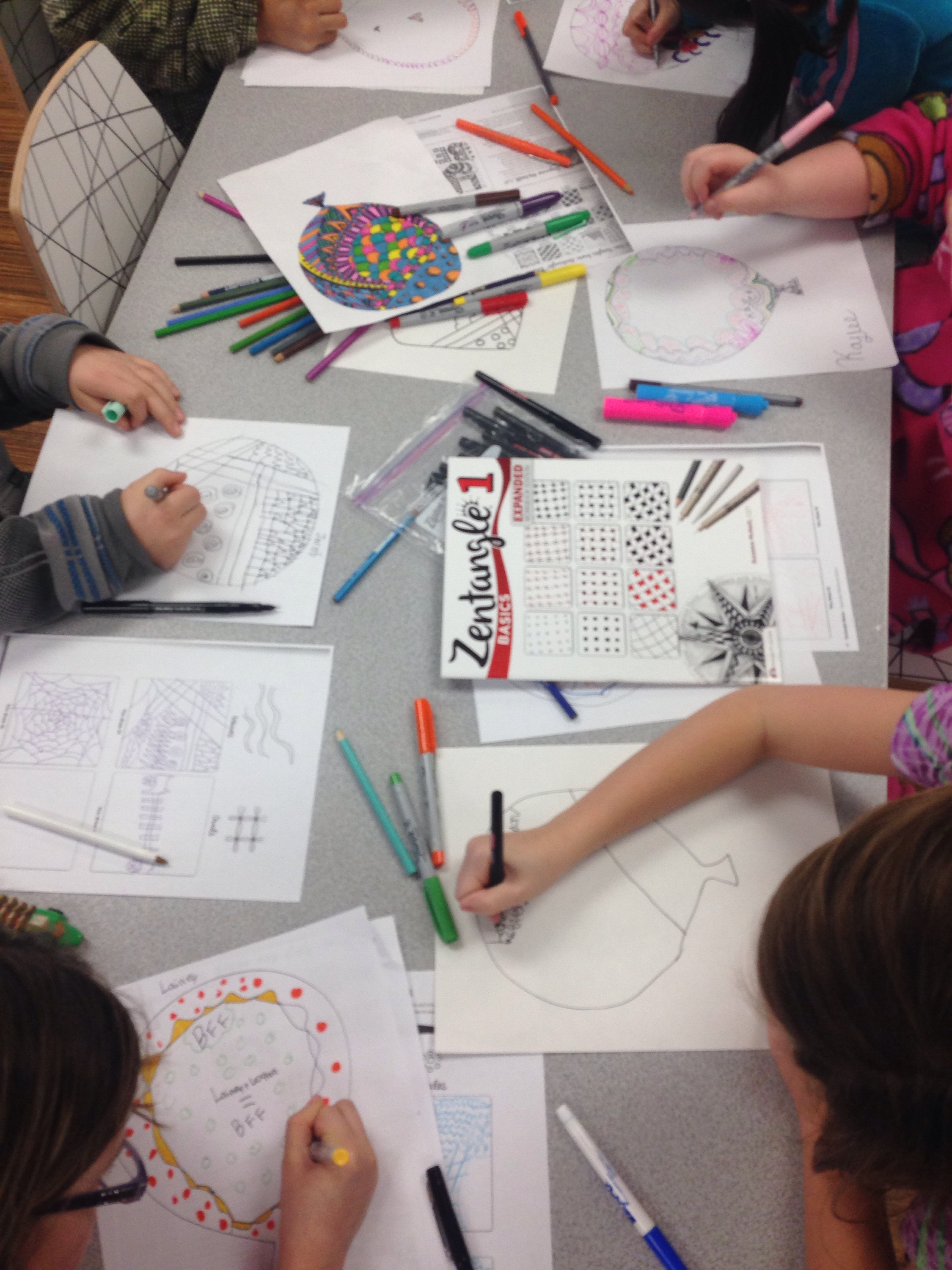 Art Class Zentangle Balloons