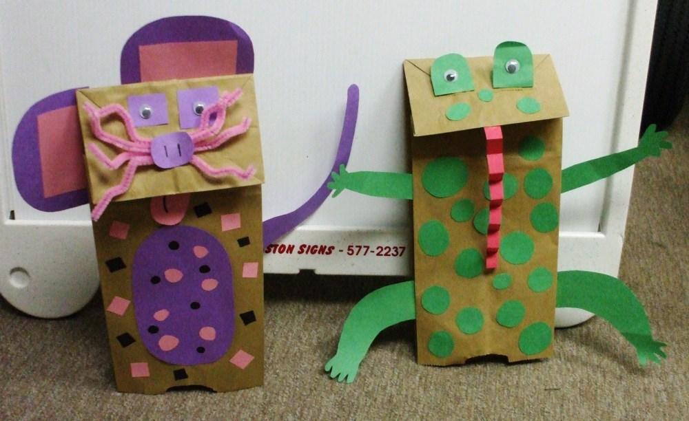 Cornerstone Crafts: Paper Bag Puppets (2/2)