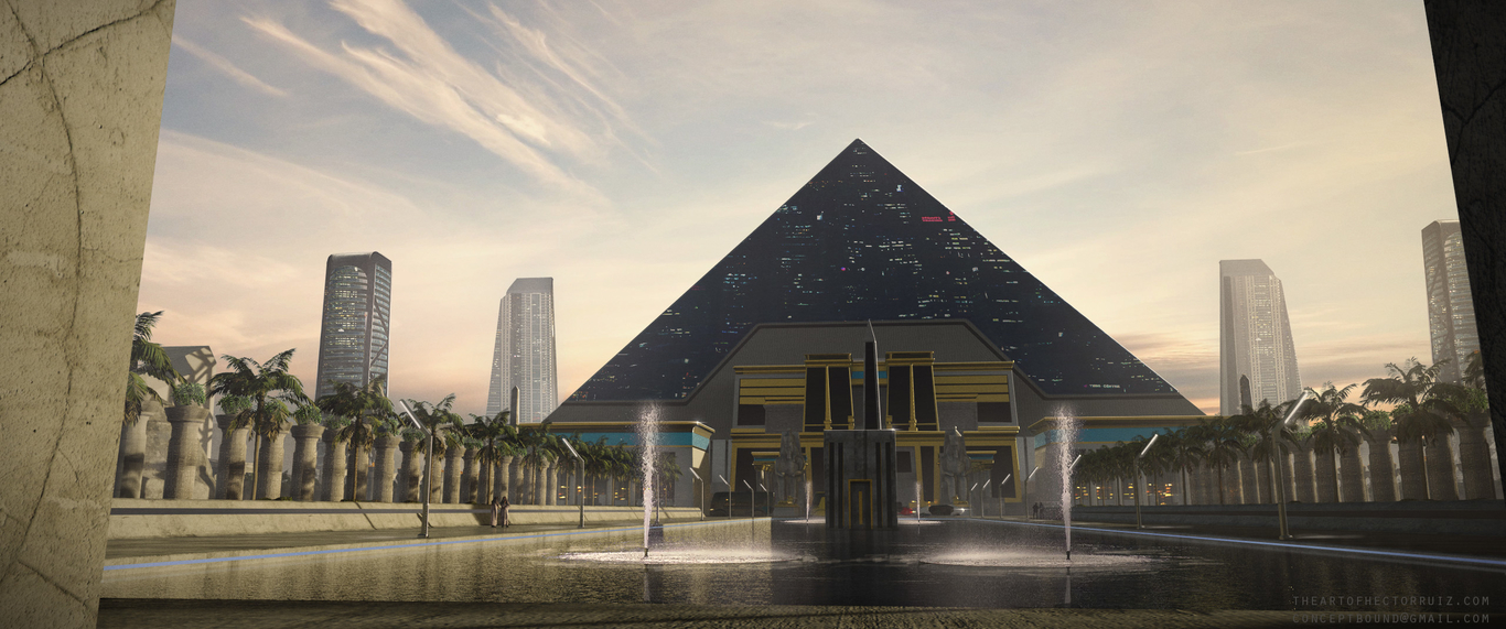 Futuristic Egyptian Building By Conceptbound Environment