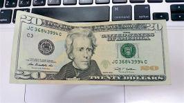 20元美金正面