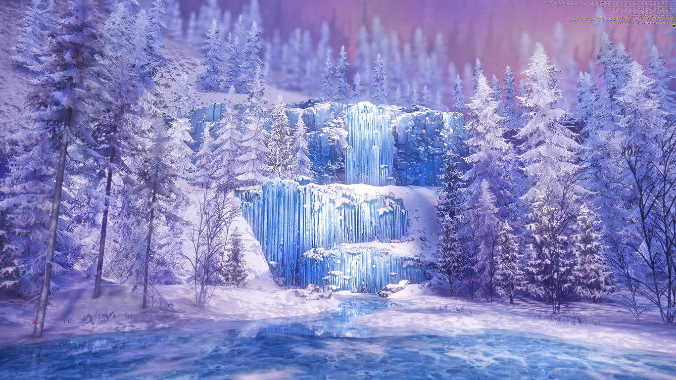 Wallpaper Of Water Fall Frozen Waterfall By Adamse Nature 3d Cgsociety