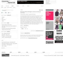Fashion Monitor: News - IAF International Designer Awards announ
